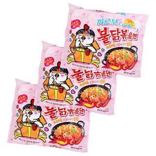 Samyang - Hot Chicken Stir Ramen Carbonara Flavor  (3 packs)