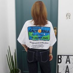 Seoul Fashion - 'California' Graphic Print T-Shirt