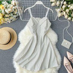 Lucuna - Strappy Striped A-Line Dress
