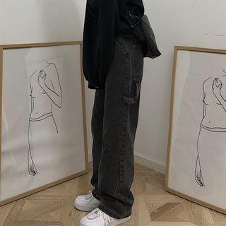INStudio(インスタジオ) - Plain Wide-Leg Jeans