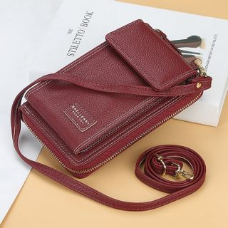 tablarosa(タブラロザ) - Faux Leather Crossbody Mobile Phone Pouch