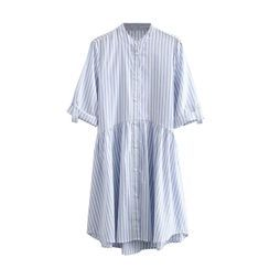 Kellus - Elbow-Sleeve Striped Mini Sheath Dress