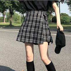 monroll - 格紋裙褲