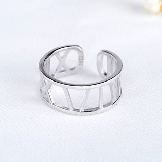 JZ Concept - 925纯银罗马数字开口戒指