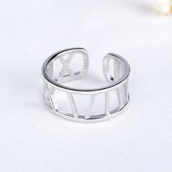 JZ Concept(JZコンセプト) - 925 Sterling Silver Roman Numeral Open Ring