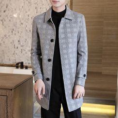 Boham - Plaid Single-Breasted Coat