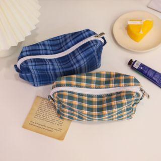 Chimi Chimi - 格子旅行化妝品小袋