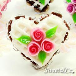 Sweet & Co. - Mini White Cake Swarovski Crystal Cake Ring