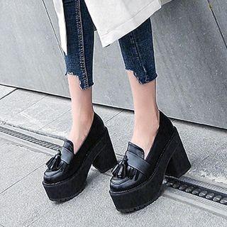 Anran Tassel Platform Loafers | YesStyle