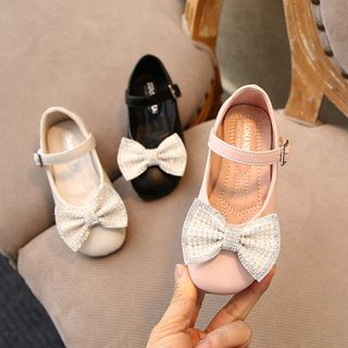 Creayu - Kids Bow-Accent Low-Heel Pumps