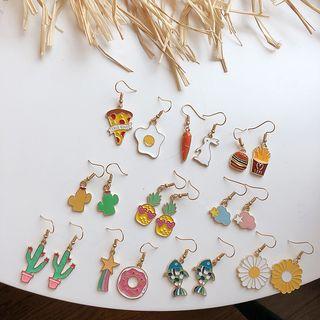 Dollu - Alloy Glaze Dangle Earring (various designs)