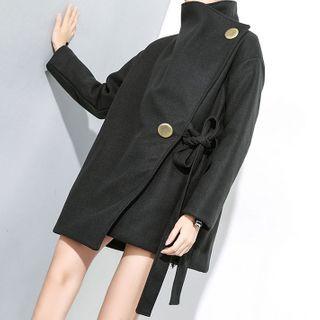 Georgina - Turtleneck Tie-Waist Coat