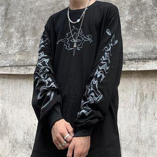 Porstina - 印花长袖圆领T裇