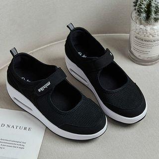 MINIKA - 帆布厚底涼鞋