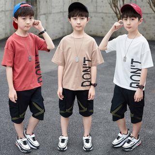PAM - 小童套装: 短袖印字T裇 + 工装短裤