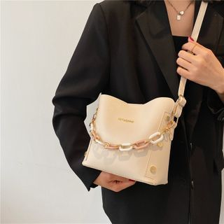 mizandrus - Chain Plain Bucket Bag