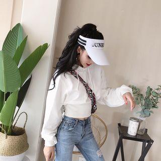 NENE - 泡泡袖連帽衫 / 做舊窄身牛仔褲