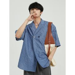 FAERIS - Short-Sleeve Double Breasted Shirt
