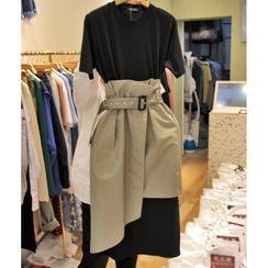 Chata - 套装: 圆领短袖T裇连衣裙 + 高腰直身裙