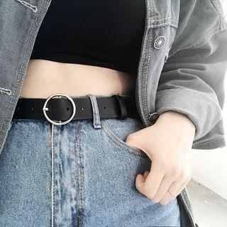CIMAO - Cinturón de piel sintética con hebilla redonda