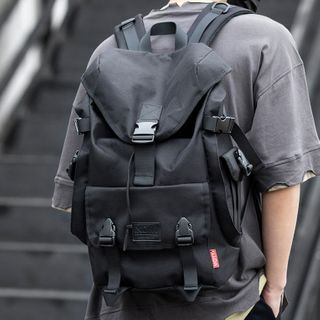 Moyyi - 飾扣翻蓋電腦背包