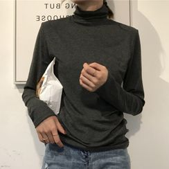 Chogen - Mock-Turtleneck Long-Sleeve T-Shirt