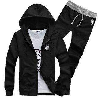 Sheck - Couple Matching Set: Zip Hoodie + Sweatpants
