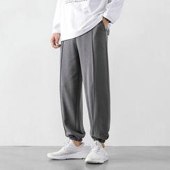 Aamon - High-Waist Drawstring Sweatpants