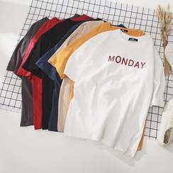 CooLook - Camiseta de manga corta estampada