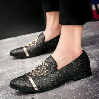 WeWolf - Faux-Leather Studded Loafers