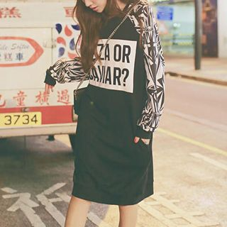 QZ Lady - Printed Long Pullover