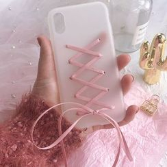 SOCLOSE - Lace Up Mobile Case - iPhone XS Max / XS / XR / X / 8 / 8 Plus / 7 / 7 Plus / 6s / 6s Plus / vivo / Huawei / OPPO