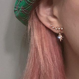 Recitbeau - Rhinestone Star Dangle Earring