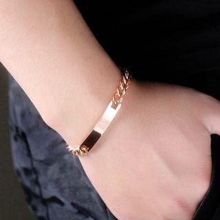 腾翼 - 不锈钢polishedcurved长条手链