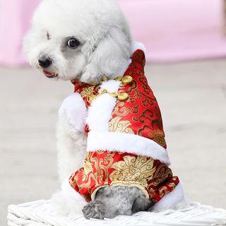 LASSIE - 农历新年毛里宠物连衣裤