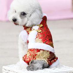 LASSIE - 農曆新年毛裡寵物連衣褲