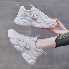 KORISE - Platform Chunky Lace Up Sneakers