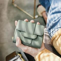 Rinka Doll - Faux Leather Buckled Wallet