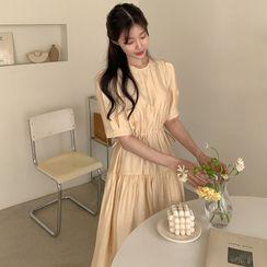 Windcatcher - 短袖A字連衣中裙