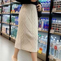 Sofame - 麻花针织中长裙