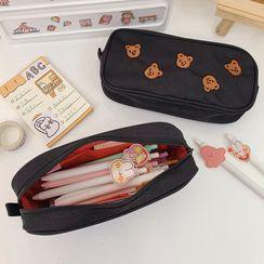 Ikiana - Embroidered Bear Pencil Case