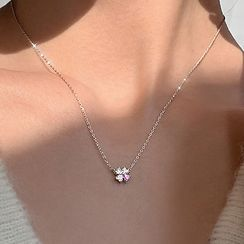 CatSoul - Clover Rhinestone Pendant Necklace