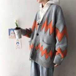 Algodon - Printed Oversize Cardigan