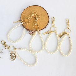 Green Isle - Faux-Pearl Key Ring Accessories