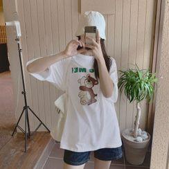 HOTPING - Teddy Bear Print T-Shirt