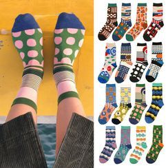 Saysmith - Couple Matching Mid-Calf Socks (Various Design)