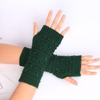 Damasco - 純色針織無指手套