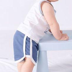 DuduBaby - 婴儿配色边运动短裤