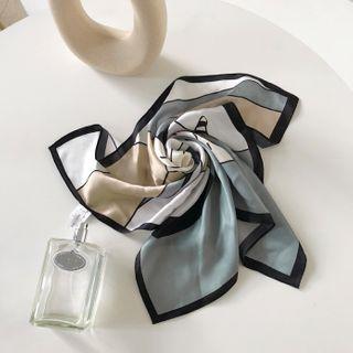 DABAGIRL - Printed Square Silk Scarf