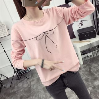 Ukiyo - Long-Sleeved Print T-Shirt